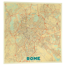 Acrylic print  Rome Map Retro - Hubert Roguski