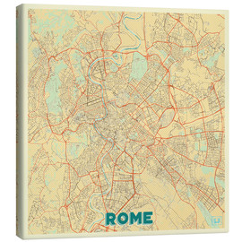 Canvas  Rome Map Retro - Hubert Roguski
