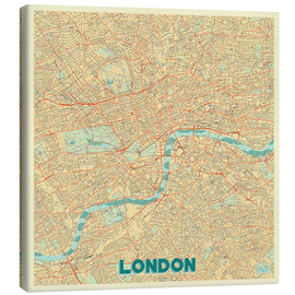 Canvas print  London Map Retro - Hubert Roguski