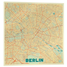 Acrylic print  Berlin Map Retro - Hubert Roguski