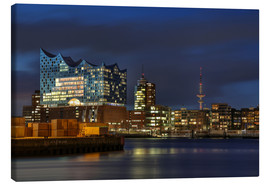 Canvas print  Hafencity with Elbphilharmonie - Sabine Wagner