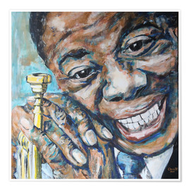 Premium poster  What a Wonderful World, Louis Armstrong - Christel Roelandt