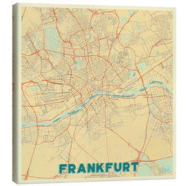 Canvas print  Frankfurt Map Retro - Hubert Roguski