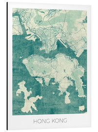 Hubert Roguski - Hong Kong Map Blue