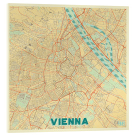 Acrylic glass  Vienna Map Retro - Hubert Roguski