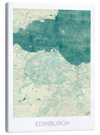 Canvas print  Edinburgh Map Blue - Hubert Roguski