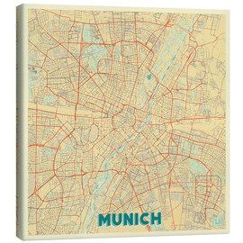Canvas print  Munich Map Retro - Hubert Roguski