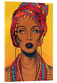 Acrylic glass  African tribal woman - Paola Morpheus