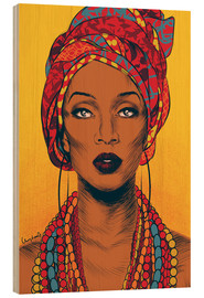 Wood print  African tribal woman - Paola Morpheus