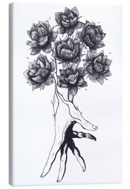 Canvas print  Hand with lotus flowers - Valeriya Korenkova