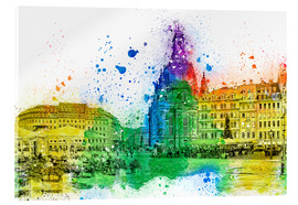 Acrylic print  The Frauenkirche in Dresden - Peter Roder