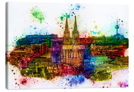 Canvas  Cologne Skyline Cologne Cathedral - Peter Roder