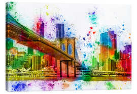 Canvas print  New York with Brooklyn Bridge - Peter Roder