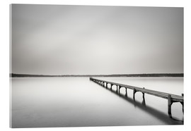 Acrylic print  Langer Steg monochrome to the horizon - Filtergrafia