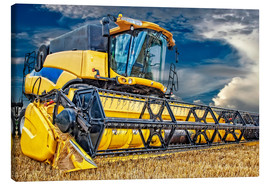 Canvas  Harvester in the cornfield - Peter Roder