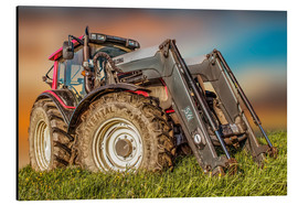 Aluminium print  Tractor with front loader - Peter Roder