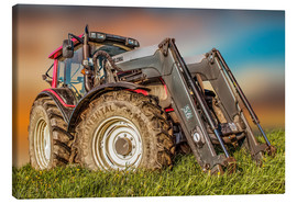 Canvas  Tractor with Front Loader - Peter Roder