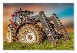 Premium poster  Tractor with front loader - Peter Roder