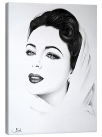 Canvas print  Elizabeth Taylor Portrait - Ileana Hunter