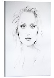 Canvas print  Meryl Streep Minimal Portrait - Ileana Hunter