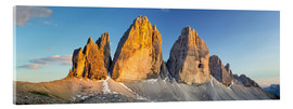 Acrylic print  The three pinnacles, Dolomites - Rainer Mirau
