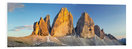 Foam board print  The three pinnacles, Dolomites - Rainer Mirau