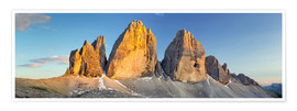 Premium poster  The three pinnacles, Dolomites - Rainer Mirau