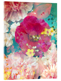 Acrylic print  Colorful flowers in the water - Alaya Gadeh