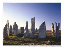 Premium poster  Rock of Callanish - Thonig