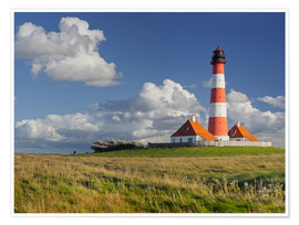 Premium poster Lighthouse Westerhever