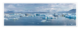 Premium poster  Glacier lagoon in the morning light, Jökulsarlon, Iceland - Catharina Lux