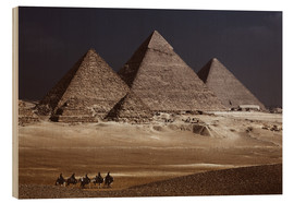 Wood print  Pyramids of Giza, Middle East - Catharina Lux