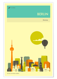 Premium poster  BERLIN TRAVEL POSTER - Jazzberry Blue