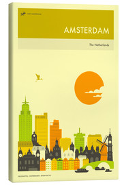 Canvas  AMSTERDAM TRAVEL POSTER - Jazzberry Blue