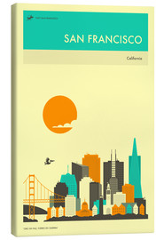 Canvas  SAN FRANCISCO TRAVEL POSTER - Jazzberry Blue