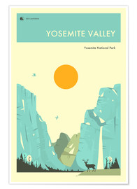 Premium poster  Yosemite National Park - Jazzberry Blue