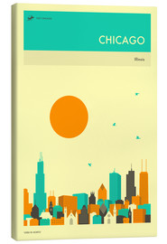 Canvas print  Chicago - Jazzberry Blue