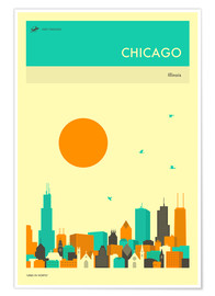 Premium poster  Chicago - Jazzberry Blue