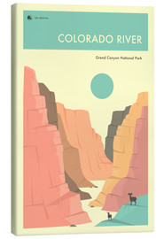 Canvas  GRAND CANYON NATIONAL PARK POSTER - Jazzberry Blue