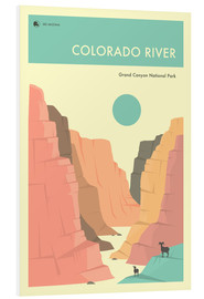 Foam board print  GRAND CANYON NATIONAL PARK POSTER - Jazzberry Blue