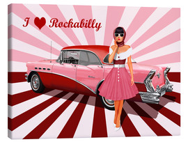 Canvas  I love Rockabilly - Monika Jüngling