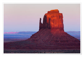 Premium poster  Monument Valley at sunset - Rainer Mirau