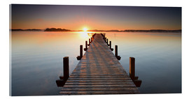 Acrylic print  Footbridge at sunrise - Andreas Vitting