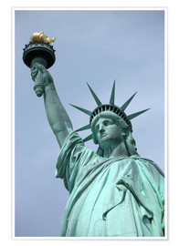 Premium poster Statue of Liberty in the portrait