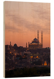Wood print  Citadel and Mohamad Ali Mosque, Cairo - Catharina Lux