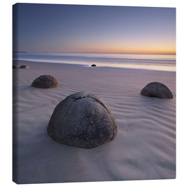 Canvas print  Moeraki Boulders, New Zealand - Rainer Mirau