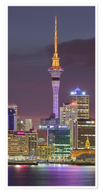 Premium poster Skyline of Auckland