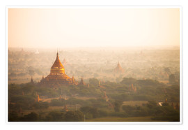 Premium poster  Aerial view of the ancient temples in Myanmar - Harry Marx