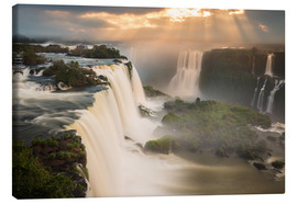 Canvas print  Sunset at Iguazu Falls - Alex Saberi