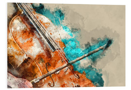 Foam board print  Cello music concert - Michael artefacti
